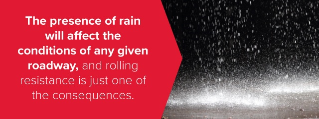 Rain and facts on Rolling Resistance