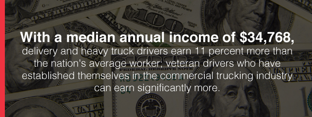 truck drivers annual income